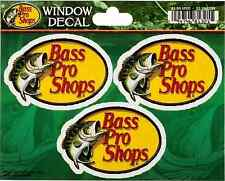 3 Bass Pro Shops SMALL Sticker 2.7in each Fishing decal set of 3 stickers