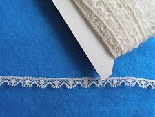 """FRENCH COTTON LACE TRIM-1/4""""- HEIRLOOM SEWING -DOLLHOUSE MINIATURE-WHITE VL910"""