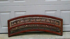 ANTIQUE 19c CHINESE ROSEWOOD CARVED HIGH RELIEF GILT WEDDING BED PANEL ELEMENT#1