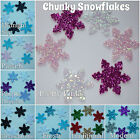 SMALL Glitter Fabric Snowflakes x6 Christmas/Project/Stockings/Frozen