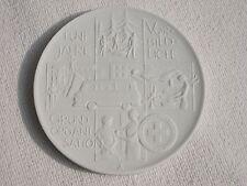 DDR Meissner Porzellan Medaille 5 Jahre Vorbildliche Grundorganisation DRK
