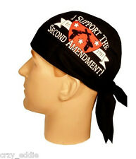 I SUPPORT THE 2ND AMENDMENT SKULLCAP HEAD WRAP **MADE USA**  SWEAT BAND