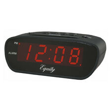 Equity by La Crosse 12 Volt Alarm Clock Trucker RV Black New Free US Shipping