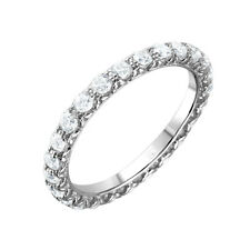 925 STERLING SILVER LADIES INFINITY WEDDING BAND W/ CZ / SZ 5,6,7,8,9 AVAILABLE