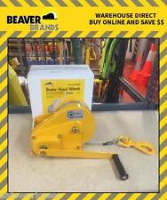 Beaver Brake Hand Winch $179.95 Lift 600kg Pulling 1200kg  24m SS Rope BHW2600R