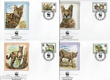 Burundi 1992 WWF Felis Serval Wild Cat Wildlife Animal Sc 681-84 Set of 4 FDC