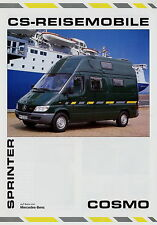 Prospekt 2001 CS Cosmo Sprinter Reisemobil Wohnmobil motorhome camping-car