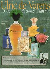 Publicité Advertising  //  Ulric de Varens  parfum