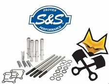 S&S ADJUSTABLE PUSHROD KIT W/ COVERS HARLEY 1999-17 TWIN CAM 93-5095 IN STOCK!!!
