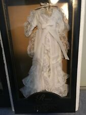 "FRANKLIN MINT TITANIC Rose 16""Vinyl Doll White Dressing Gown Ensemble NRFB+COA"