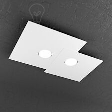 PLAFONIERA TOP LIGHT MODELLO PLATE 1129/PL2R LED GX53 18W LUCE FREDDA INCLUSO