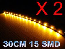 2 x12 inch Amber Led strip Grill Car Truck Boat Decorated Flexible LED Strip 12V