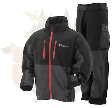 M MD Frogg Toggs Pilot Guide Rain Suit Black & Charcoal Gray Jacket & Pants