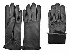 Top Quality Ladies Dress Fashion Winter Gloves 100% Real Leather Inside Lining