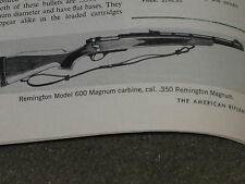 NRA TESTS THE NEW REMINGTON 600 CARBINE IN 350 REM MAG
