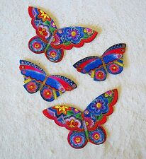 LAUREL BURCH COTTON FABRIC IRON ON BUTTERFLY APPLIQUES   #603