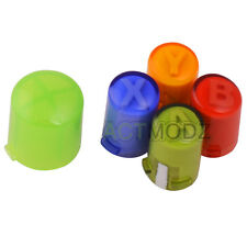 Replacement ABXY + Guide Buttons Parts Set For Xbox 360 Controller Rainbow Color