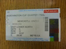 12/12/2001 Ticket: Chelsea v Newcastle United [Football League Cup] Actual Date