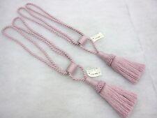 2 Lilac mauve curtain tassel tie backs Traditional rope & tassle cord tiebacks