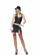 Gangsta Lady Costume S/M Gangster Fancy Dress Mafia - 83292 - Ladies Fancy Dress