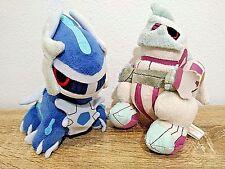 """POKEMON CENTER POKEDOLL PALKIA 7"""" & DAILGA 6"""" 2006 Plush Doll Toy Japan Legit FS"""