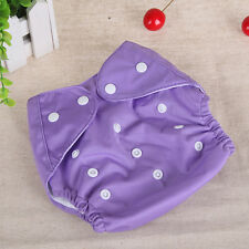 Reusable Baby Infant Nappy Cloth Diaper Soft Cover Washable Free Size Adjustable