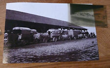 PHOTO + NEGATIF WWI  LES camions DE L ESCADRON 20 VAUCIENNES 18 /08/1915 WWI
