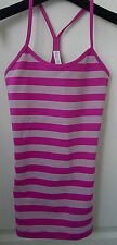 LULULEMON Raspberry Stripe POWER Y TANK 4 TOP Pink LUON Gym SOLD OUT Bra Yoga !