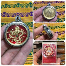 Beautiful Mongkrorn Dargon Wat Trimit Yin Yang Amulet Luck Rich Protect Code 481