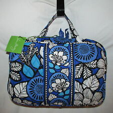 Vera Bradley GRAND Cosmetic Bag BLUE BAYOU  NEW WITH TAG