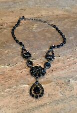 """RJ GRAZIANO"" FABULOUS BLACK VICTORIAN DROP NECKLACE GORGEOUS!!!"