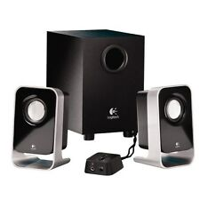2.1 Stereo Speaker System With Subwoofer Logitech  LS21 PC Desktop Computer, New