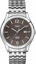 Timex T2N848, Men's Silver-Tone Expansion Watch, Indiglo, Date T2N8489J