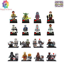 US 16 PCS STAR WARS Darth Vader Chewbacca Master Yoda Minifigures Building Toys