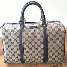 Gucci Crystal Coated Canvas and Leather Boston  Bag 265697