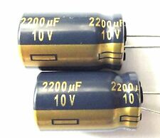 2200uf 10v 105c LOW ESR Size 12.5mmx20mm Panasonic EEUFC1A222 x2pcs