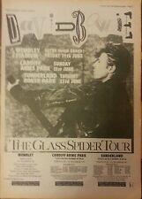 """DAVID BOWIE TOUR DATES 15 X 11"""" ORIGINAL ADVERT POSTER SIZE 11 APR 1987"""
