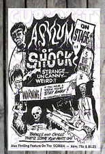 ASYLUM OF SHOCK 3 BIG SCENES ON STAGE THRILLING SPOOK SHOW POSTER REPRINT #18
