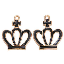 20pcs Lots Enamel Gold Plated Crown Charms Alloy Jewelry Pendants Fit Necklace J