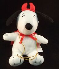 Peanut's Devil Snoopy Plush Valentines Stuffed Animal Candy Holder 2012 Gift