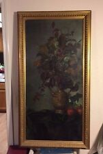 18th/19th Century, Flowers & Foliage in Bronze Planter, Old Museum Labels, Sgnd.