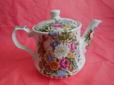 Windsor England Hand painted Floral Teapot Collectible English Decorative