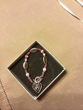 Women's Breast Cancer Awareness Bracelet. New with Box