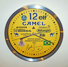 Ayrton Senna Souvenir/Tribute Wall Clock, 1st Win @ Monaco Grand Prix 1987