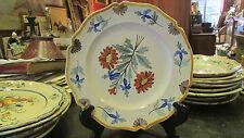 ancienne assiette  decorative nevers  fleurs