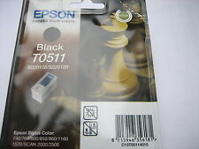 EPSON ORIGINAL S020189 black for Stylus color  800 850 1520 / T0511 schwarz