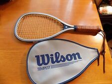 WILSON TEMPEST PLUS RACQUET BALL RACQUET WITH LEATHER HANDLE AND COVER
