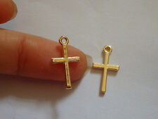 10 cross charms pendants gold jewellery making vintage wholesale UK