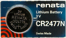1PC Renata CR2477N 2477 Lithium Battery 3V - Swiss Made, Ships from Canada