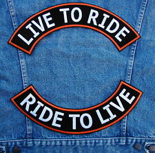 Large LIVE TO RIDE Rocker Set Biker Motorcycle Patch by DIXIEFARMER